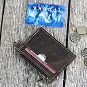 Сумки и аксессуары handmade. Livemaster - original item Genuine leather card holder with zippered compartment. Handmade.