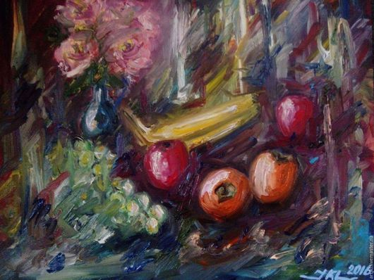 Натюрморт ручной работы. Ярмарка Мастеров - ручная работа. Купить Осенние цветы. Handmade. Комбинированный, живопись маслом, картина в подарок