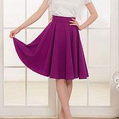 Одежда ручной работы. Ярмарка Мастеров - ручная работа Фиолетовая юбка-солнце. Пошив юбки. Handmade.