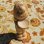 """Для дома и интерьера handmade. Livemaster - original item Статуэтка-оберег для дома """"Домовой с чашей"""". Изделие из дерева. Handmade."""