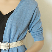 Одежда ручной работы. Ярмарка Мастеров - ручная работа Кардиган  Нежный голубой. Handmade.