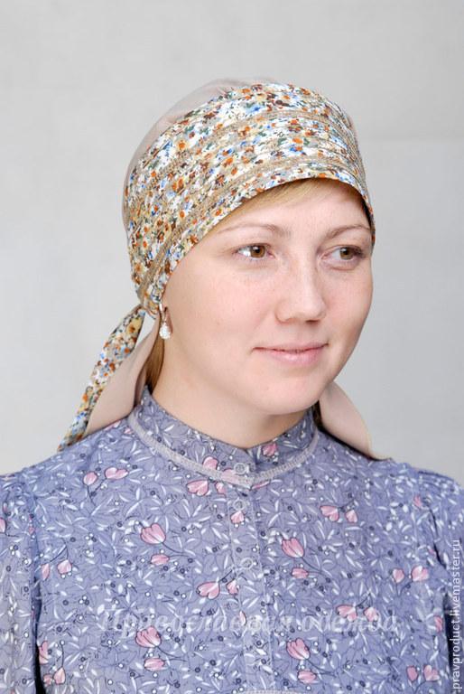 Этническая одежда ручной работы. Ярмарка Мастеров - ручная работа. Купить Повойник штапель - традиционный русский женский головной убор. Handmade.