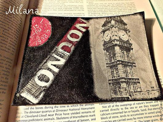 обложка для паспорта, обложка для загранпаспорта, обложка на загранпаспорт, обложка декупаж, обложки декупаж, обложка для автодокументов, обложка в подарок, Лондон, биг бен, англия