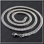 Украшения handmade. Livemaster - original item Chain steel no. 6 Width 3.5 mm, length 61 cm.. Handmade.