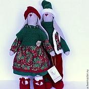 Куклы и игрушки ручной работы. Ярмарка Мастеров - ручная работа Зайцы Тильда. Handmade.