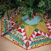 Подарки к праздникам ручной работы. Ярмарка Мастеров - ручная работа Юбка для крестовины новогодней елки №2. Handmade.