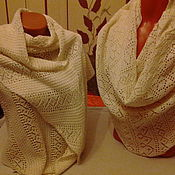 Аксессуары handmade. Livemaster - original item stole made of 100%linen yarn