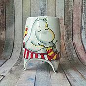 """Посуда ручной работы. Ярмарка Мастеров - ручная работа """"Муми-мама"""" - чашка с ножками (0153). Handmade."""