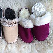 Обувь ручной работы handmade. Livemaster - original item Women`s suede Slippers 37. Handmade.