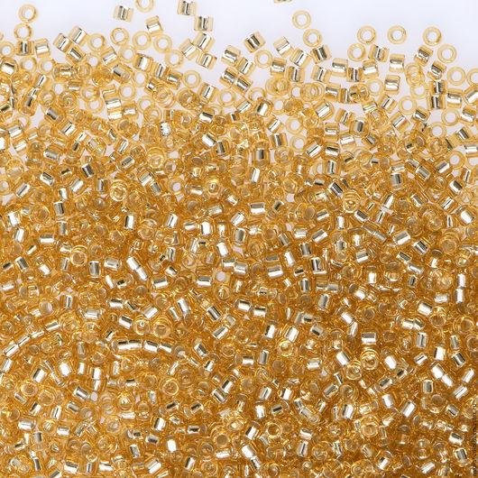 Для украшений ручной работы. Ярмарка Мастеров - ручная работа. Купить MIYUKI Delica 11/0 Silver Lined Gold DB-42  бисер Миюки Делика. Handmade.