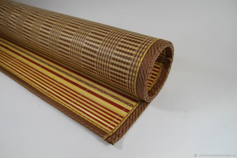 Бамбуковый коврик для валяния