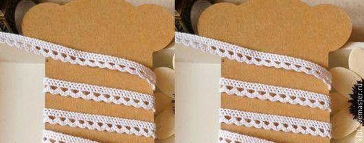 Шитье ручной работы. Ярмарка Мастеров - ручная работа. Купить !Кружево  (0,8 см) Хлопок 100%. Handmade. Белый