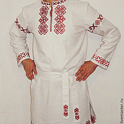 Русский стиль handmade. Livemaster - original item Shirt embroidered Slavic