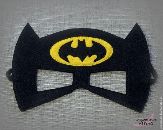 Игровые маски для детей и взрослых из фетра ручной работы. Маска Бэтмена из фетра. Маски для вечеринки. Маски супер героев. Бэтмен.