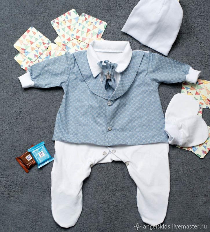 Комплект для выписки А-ля Gucci grey blue, Комплект для выписки, Волгодонск,  Фото №1