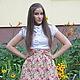 Юбки ручной работы. Юбка из джинсы ..... V#Victoria#V. Интернет-магазин Ярмарка Мастеров. Джинсовая ткань, принт, цветы