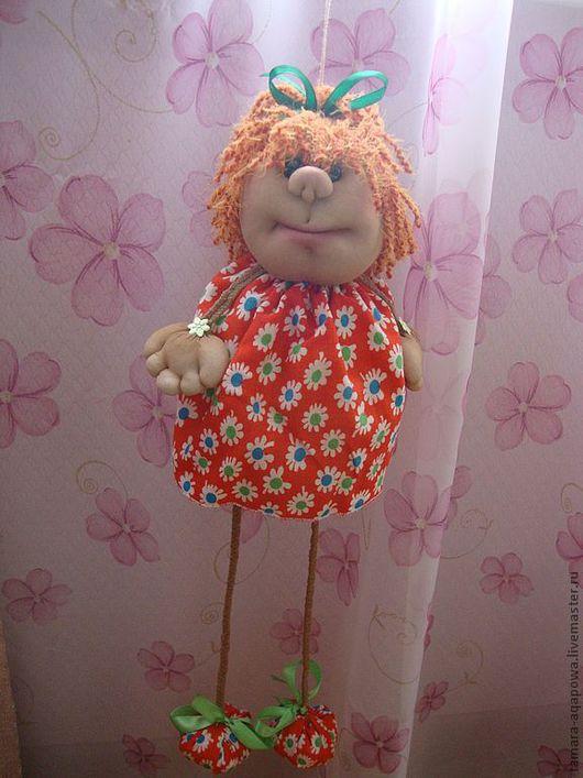 """Человечки ручной работы. Ярмарка Мастеров - ручная работа. Купить Кукла- подвеска """"Маняша"""". Handmade. Рыжий, эксклюзивный подарок"""
