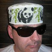 """Одежда ручной работы. Ярмарка Мастеров - ручная работа Летняя шапка  """"Панда 1"""". Handmade."""