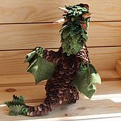 Куклы и игрушки ручной работы. Ярмарка Мастеров - ручная работа Большой лесной дракон. Handmade.