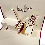 Открытки ручной работы. Ярмарка Мастеров - ручная работа Ангел за роялем. Handmade.