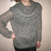 Одежда ручной работы. Ярмарка Мастеров - ручная работа пуловер с широким воротом-хомутом. Handmade.