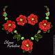 Колье Красный мак (муранское стекло, подарок женщине)
