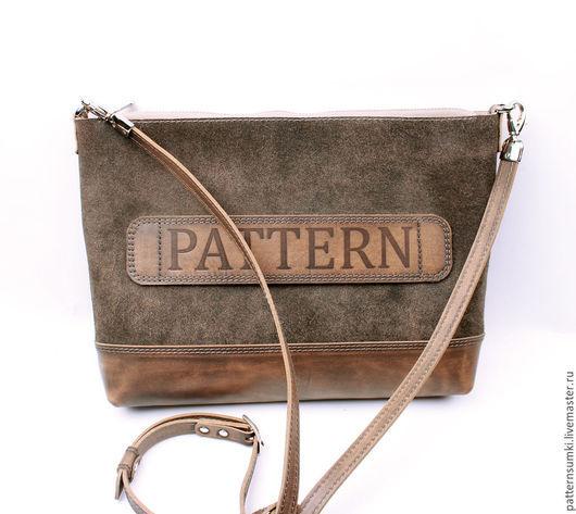 Дизайнерская кожаная сумка Pattern Federica  Супер-кожа лазерной обработки!