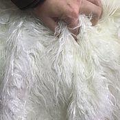 Мех ручной работы. Ярмарка Мастеров - ручная работа Мех искусственный длинноворсовый белая лама. Handmade.