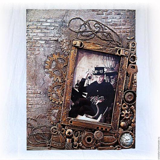 Фотоальбомы ручной работы. Ярмарка Мастеров - ручная работа. Купить Фоторамки в стиле steampunk. Handmade. Коричневый, фоторамка в подарок