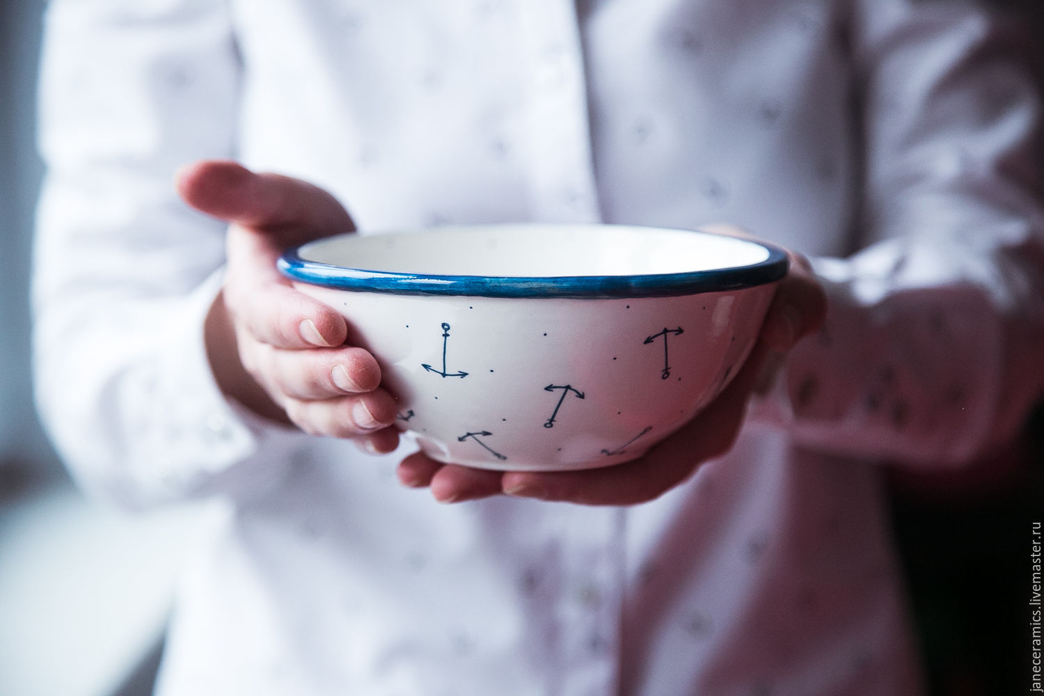 Thoughts on sea... A bowl of handmade ceramics, Bowls, Zhukovsky,  Фото №1