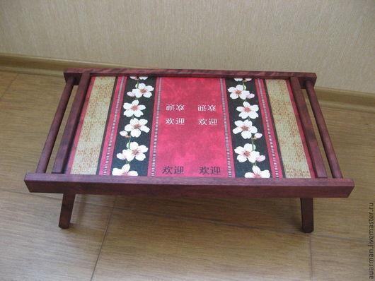 Мебель ручной работы. Ярмарка Мастеров - ручная работа. Купить Столик - поднос для завтрака, сервировочный столик декупаж Сакура. Handmade.