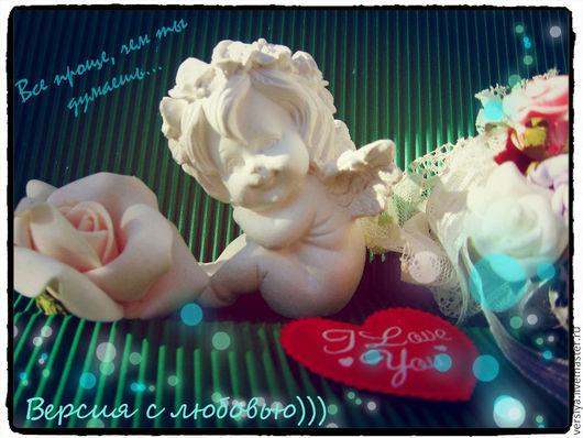 Статуэтки ручной работы. Ярмарка Мастеров - ручная работа. Купить Ангелок малышка. Handmade. Белый, подарок, гипс