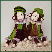 Куклы и игрушки ручной работы. Ярмарка Мастеров - ручная работа Обезьянки. Handmade.