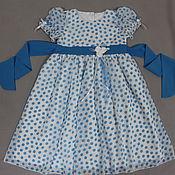 Работы для детей, ручной работы. Ярмарка Мастеров - ручная работа Платье для девочки Снежана нарядное. Handmade.