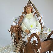 Куклы и игрушки ручной работы. Ярмарка Мастеров - ручная работа Текстильная кукла Тильда Фея новогоднего снега. Handmade.