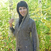 Одежда handmade. Livemaster - original item 182 cardigan coat knitted clothing, feather products. Handmade.