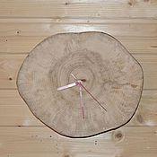 Для дома и интерьера ручной работы. Ярмарка Мастеров - ручная работа Часы из спила. Handmade.