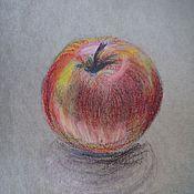 Картины и панно ручной работы. Ярмарка Мастеров - ручная работа Красное яблоко.. Handmade.