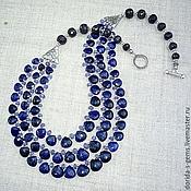 Украшения handmade. Livemaster - original item This delicate NECKLACE 3нити TANZANITE, SAPPHIRES - brealey.. Handmade.
