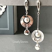 Украшения handmade. Livemaster - original item Asymmetric Vicious circle earrings English lock silver long. Handmade.