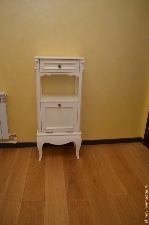 Мебель ручной работы. Ярмарка Мастеров - ручная работа. Купить Белая тумбочка. Handmade. Белый, резьба по дереву