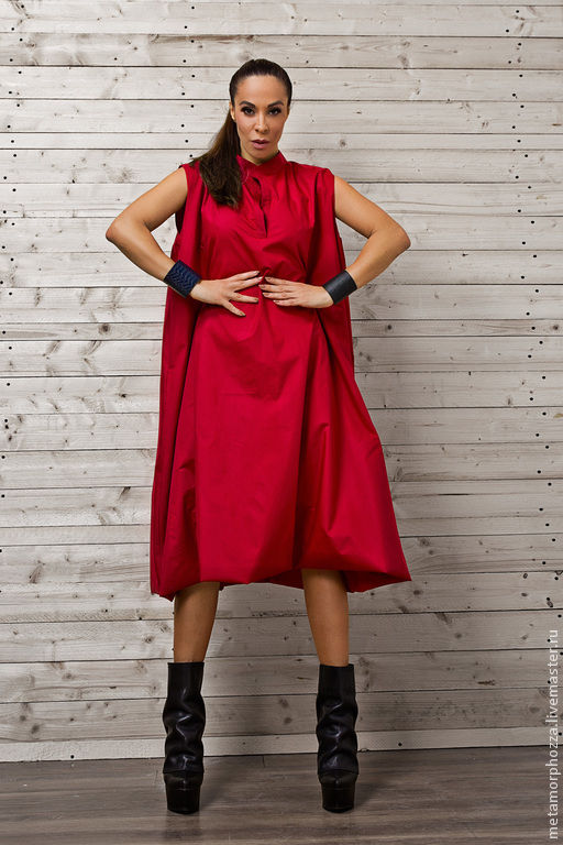 Платья ручной работы. Ярмарка Мастеров - ручная работа. Купить Длинное платье, яркое платье. Handmade. Ярко-красный