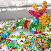 """Куклы и игрушки ручной работы. Ярмарка Мастеров - ручная работа Вязаный жирафик """"Сеня"""". Handmade."""