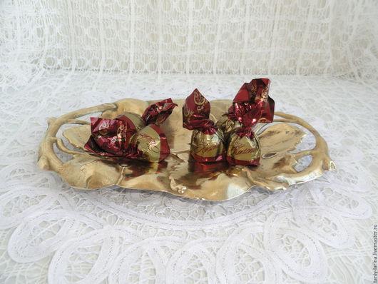 Винтажная посуда. Ярмарка Мастеров - ручная работа. Купить Блюдо небольшое, ваза для конфет, фруктов, Германия. Handmade. Золотой