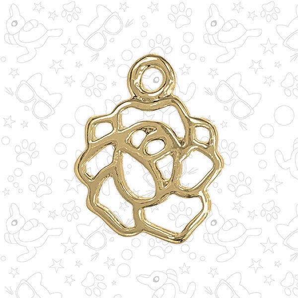 Подвеска контурная цветок, золото, Фурнитура, Москва,  Фото №1