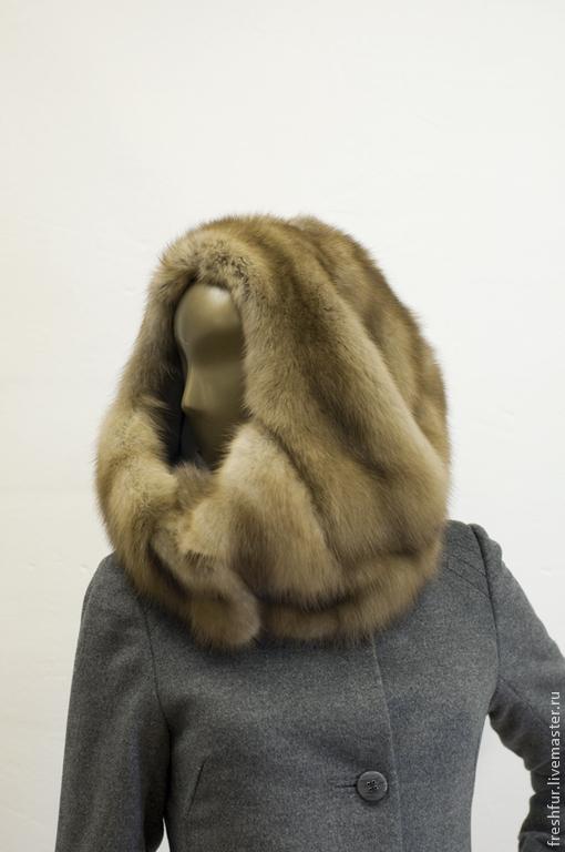 """Шапки ручной работы. Ярмарка Мастеров - ручная работа. Купить Меховая шапка """"Кокон"""". Handmade. Бежевый, дизайнерская шапка"""