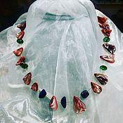 Колье ручной работы. Ярмарка Мастеров - ручная работа Ожерелье. Handmade.