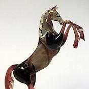 Для дома и интерьера handmade. Livemaster - original item Interior figurine made of colored glass Horse Getair. Handmade.
