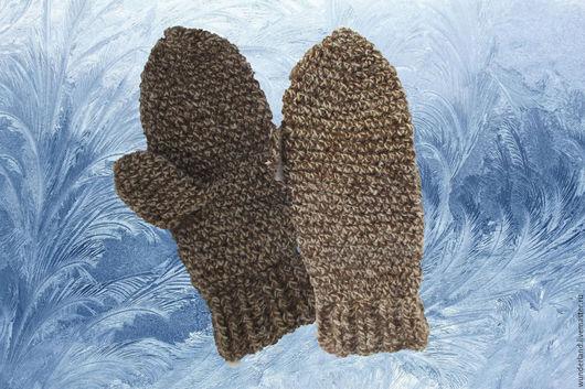 Варежки, митенки, перчатки ручной работы. Ярмарка Мастеров - ручная работа. Купить Варежки мужские вязаные зимние. Handmade. Комбинированный