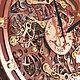 Часы для дома ручной работы. Часы настенные Автоматон Bite. WOODANDROOT. Ярмарка Мастеров. Часы, комбинированный, дерево, фанера